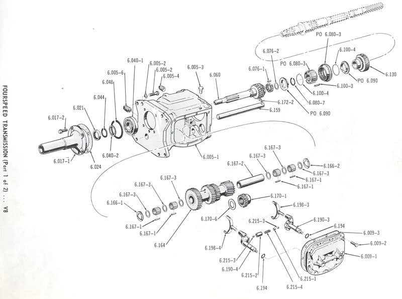 Borg-Warner T-10, as fitted to AMC V8.