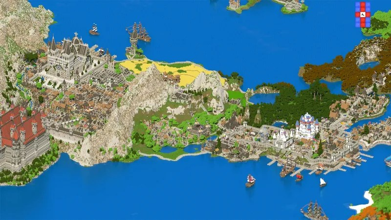 Dude Spends 4.5 Years Building Fantasy Kingdom In Minecraft