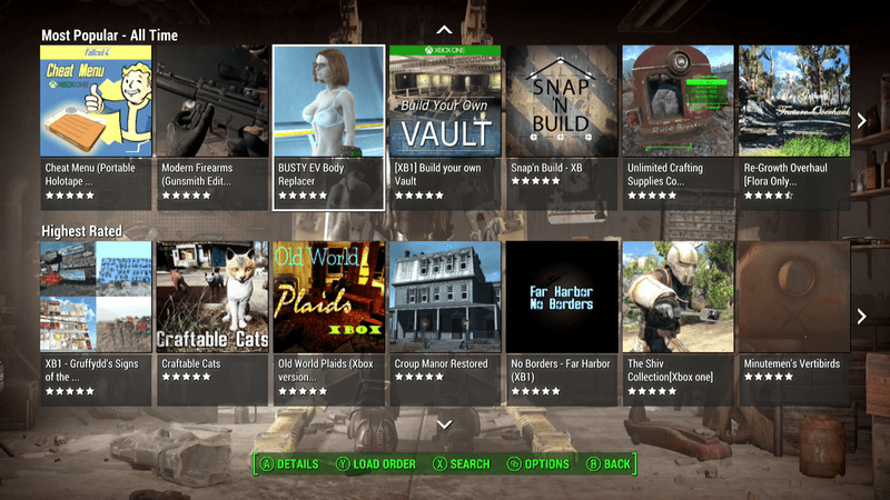 The Most Popular Fallout 4 Mods On Xbox One