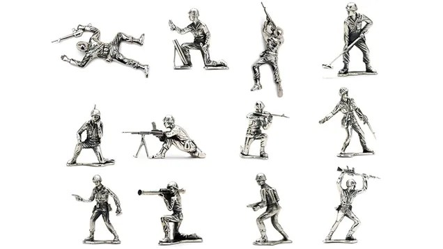 Sterling Silver Army Men Guarantee Your Kids Are
