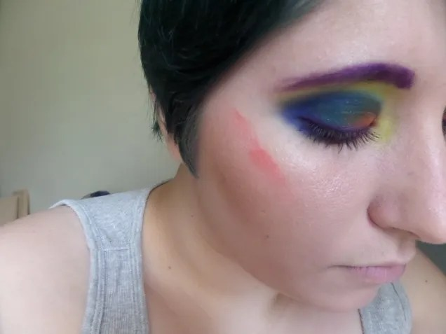 African Pygmy Kingfisher inspired makeup tutorial