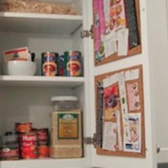 Kitchen Cabinet Cleaner Recipe Amish Made Cabinets Create A Hidden Cork Board Message Center On The Inside Of