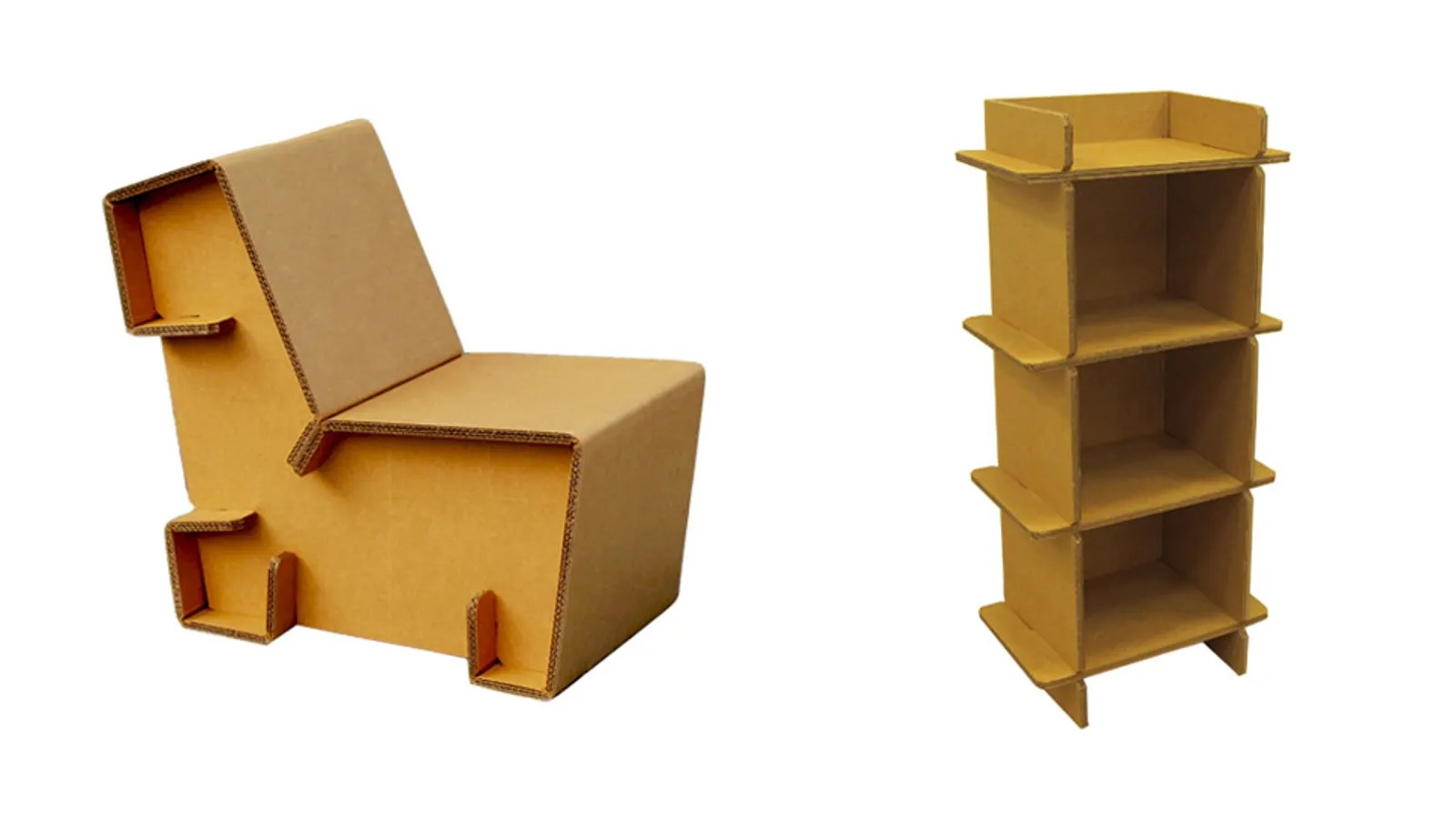 Cardboard Chair Refoldable Cardboard Furniture Makes It Cheap And Easy To