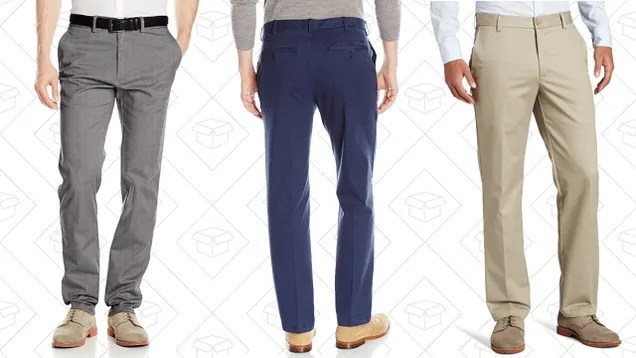 Stock Up On Men's Pants For About $20-$30 Per Pair, Today Only On Amazon