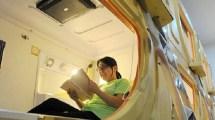 Chinese Capsule Hotel Lets Pretend ' Sleeping In