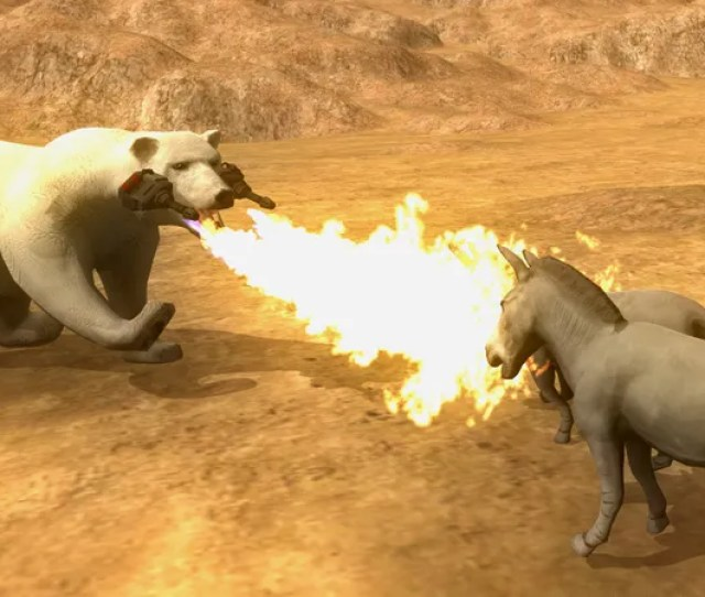 Beast Battle Simulator Makes Your Flame Thrower Polar Bear Dreams Come True