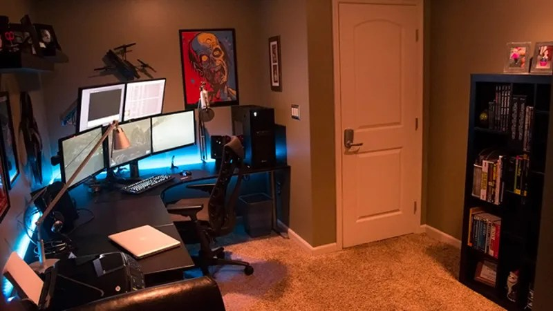 The Underground Secret Battlestation Workspace