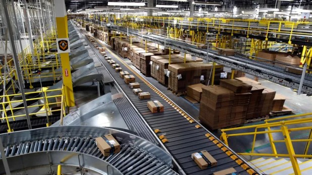 Cloud Computing: An Amazon warehouse in Baltimore, Maryland, in 2017.