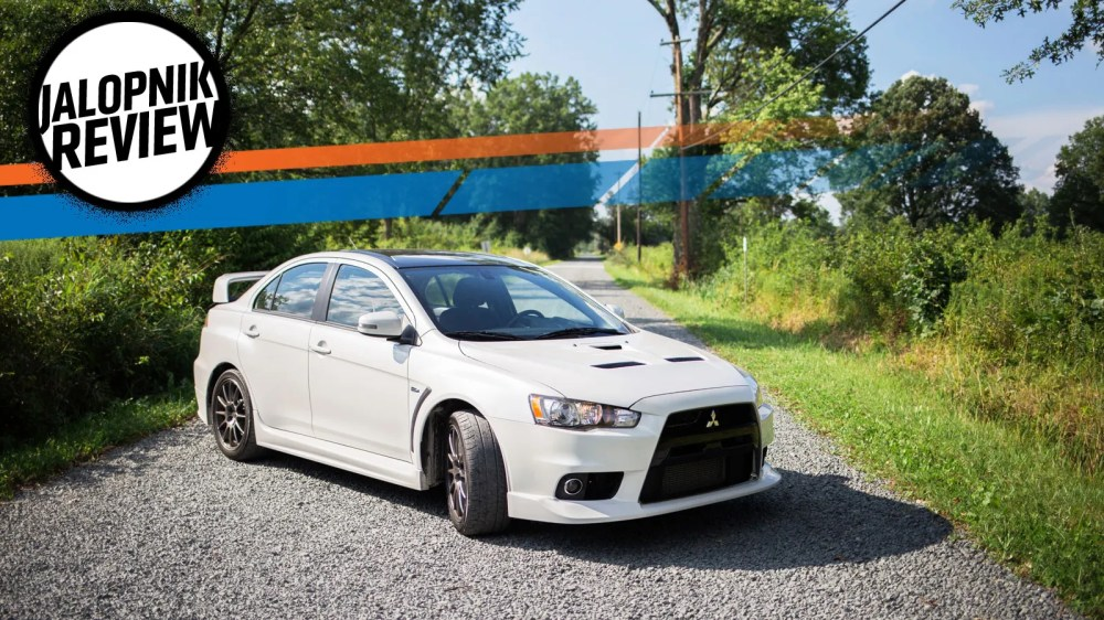 medium resolution of the mitsubishi lancer evo x final edition says goodbye with its middle finger in the air