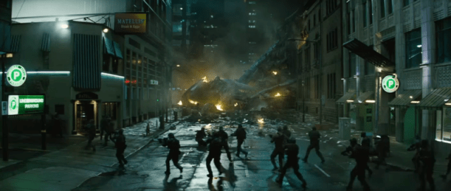crashed plane in the suicide squad trailer