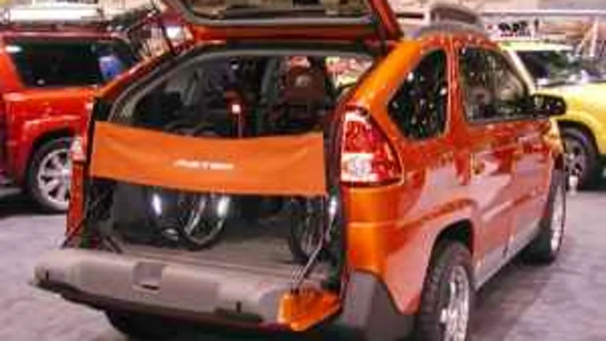 hight resolution of nice price or crack pipe gm heritage collection supercharged aztek sema car for 24 900