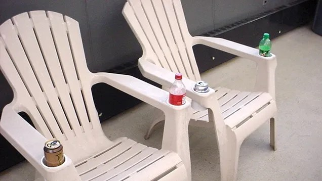outdoor chairs cheap marble dining table and 6 uk repurpose frosting containers as cup holders on furniture