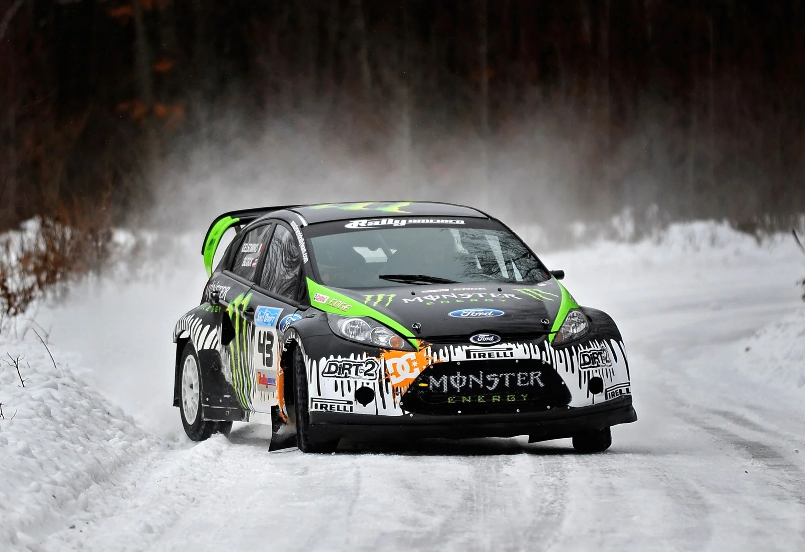 Rally Car Wallpaper Snow Ken Block S Rally America Ford Fiesta A Multimedia