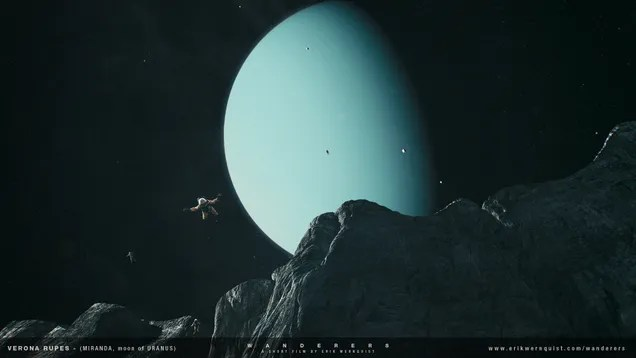 This Is A Majestic Vision Of Humans Embracing Our Exotic Solar System