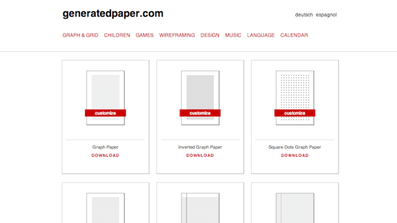 Generated Paper Features Over 40 Printable Paper and