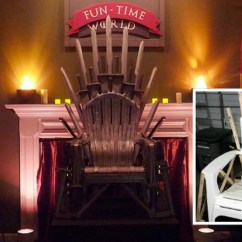Iron Throne Chair Inflatable For Adults Guy Makes Game Of Thrones With Cheap Plastic
