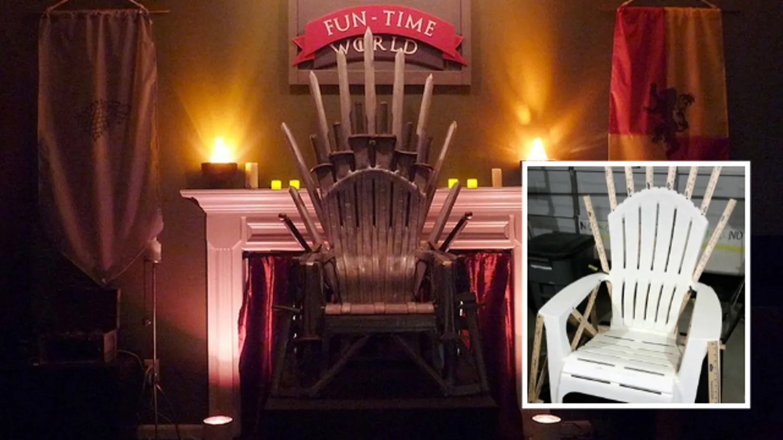 Gaming Chair For Big Guys Guy Makes Game Of Thrones 39 Iron Throne With Cheap Plastic
