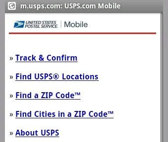 USPS Mobile Tracks Packages from Your Cellphone