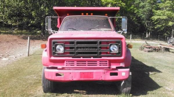 Stop Giant Pink Dump Truck