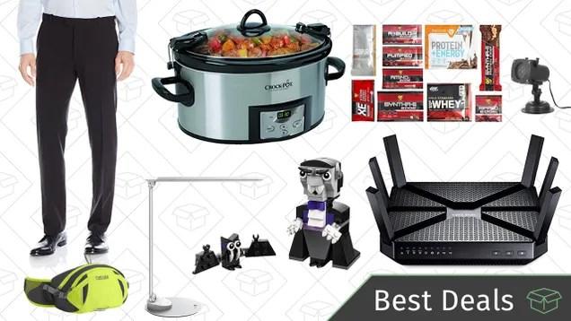 Saturday's Best Deals: Men's Pants, Portable Crock-Pot, Wi-Fi Router, and More