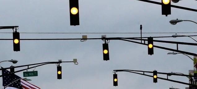 Flashing Yellow Light