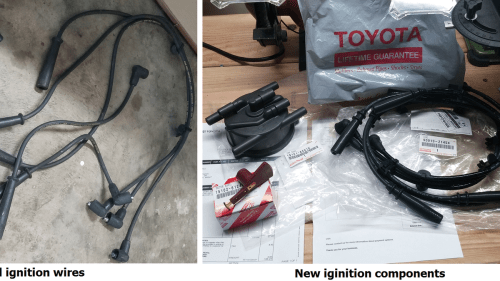 small resolution of ignition wire harnes for toyotum t100