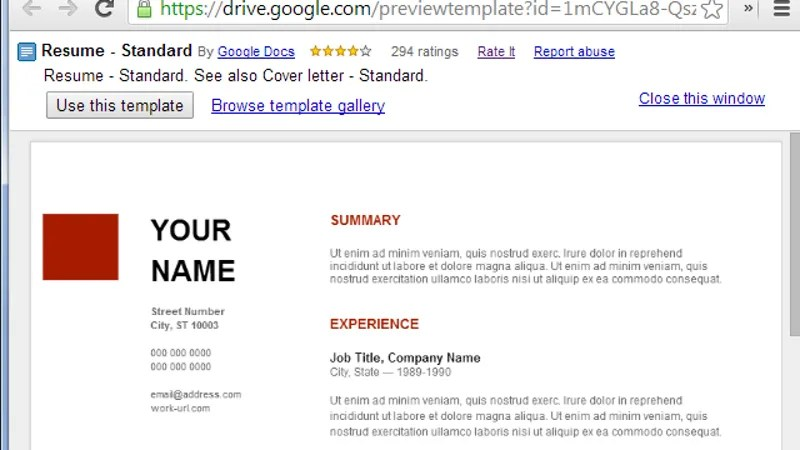 Use Google Docs' Resume Templates For A Free Good Looking Resume