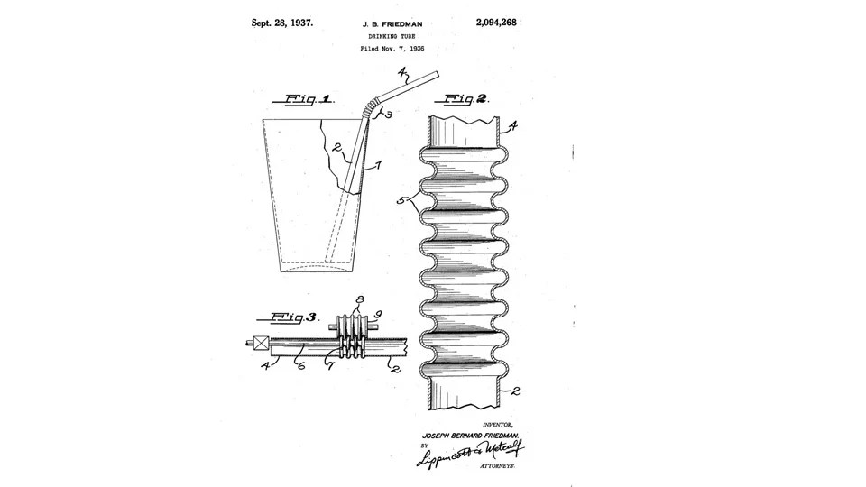 The Invention and Evolution of the Drinking Straw, from