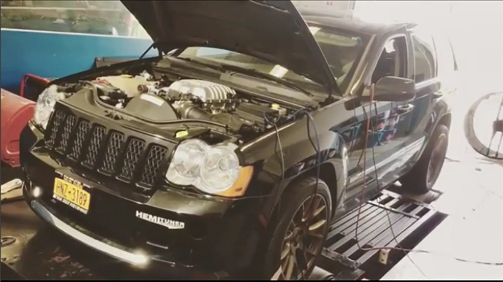 medium resolution of someone made their own jeep grand cherokee hellcat and holy crap is it fast