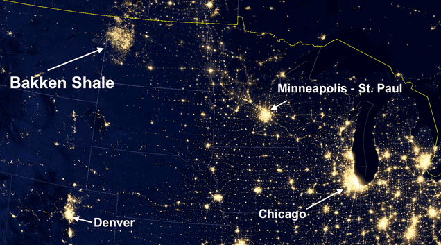 Satellite Images Reveal How the U.S. Oil Boom Is Creating New Cities