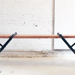 Steel Chair Joints And Stool In One Build Industrial Furniture With Wood Pipes