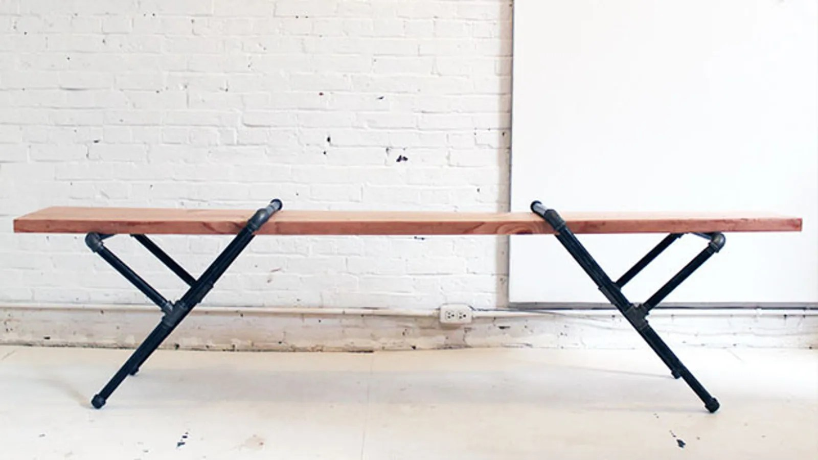 Pipe Chair Build Industrial Furniture With Wood And Pipes