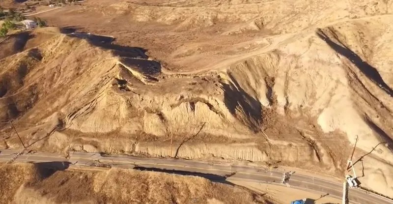 What the Hell Caused This California Road to Suddenly Rise Up and Crumble?