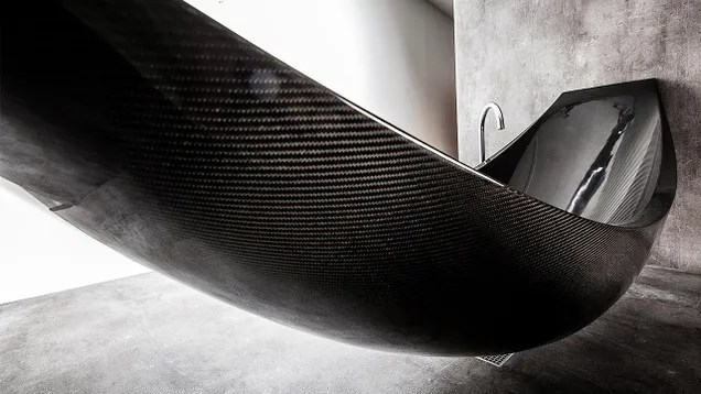 This Insane Carbon Fiber Hammock Bathtub Is The Epitome Of