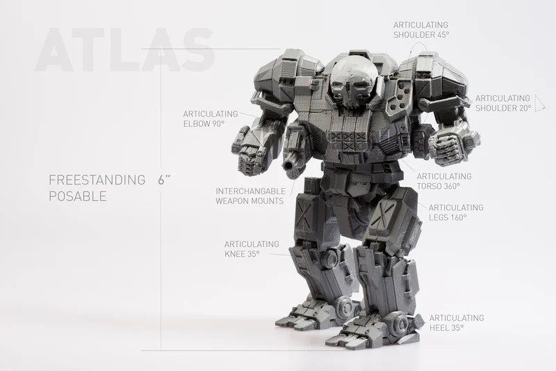 The Future has Arrived: Print Your Own Mechwarrior Toys