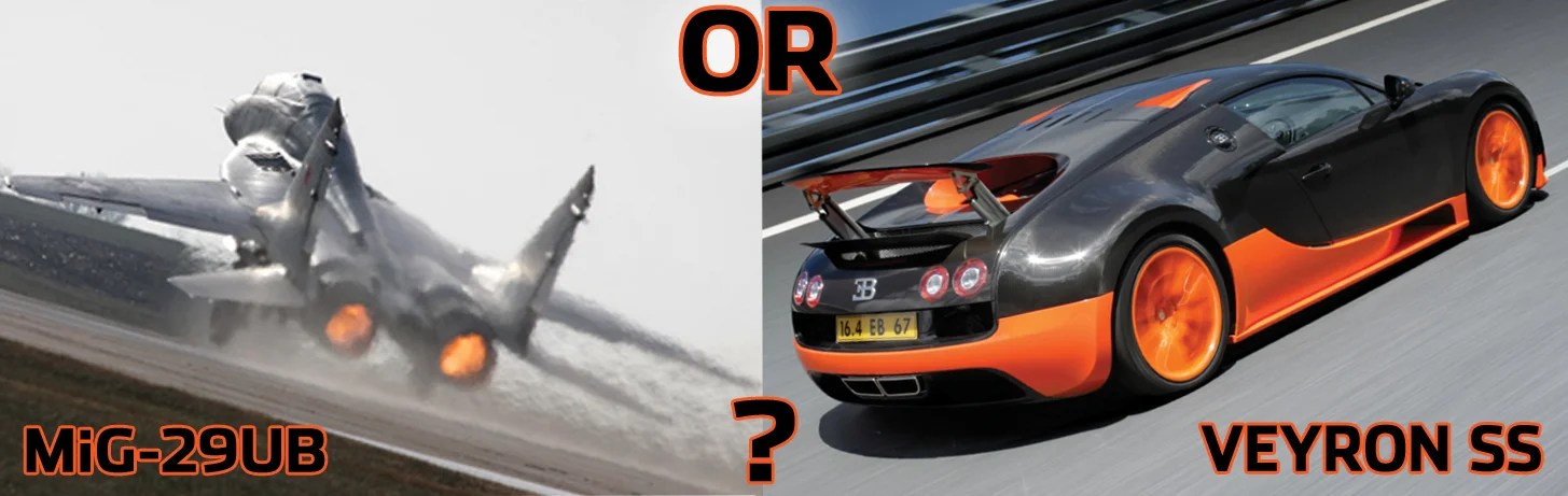 You Have 4 Million Do You Buy A Bugatti Veyron SS Or MiG