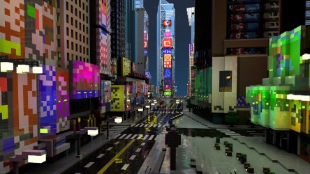 minecraft square times crowded york way australia less videojuego upplev spela recreacion hecha dig
