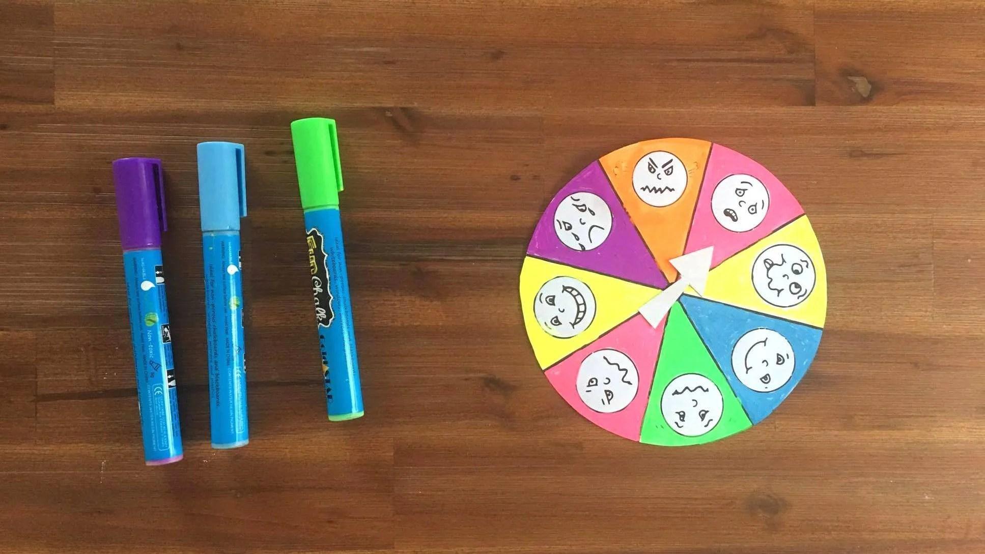 Make An Emotion Wheel To Help Kids Express Their Feelings