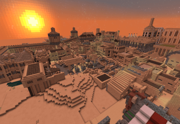 minecraft desert built player months huge australia vast term solo project long