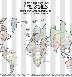 distorted map shows each country forced into its time zone [ 1480 x 1015 Pixel ]