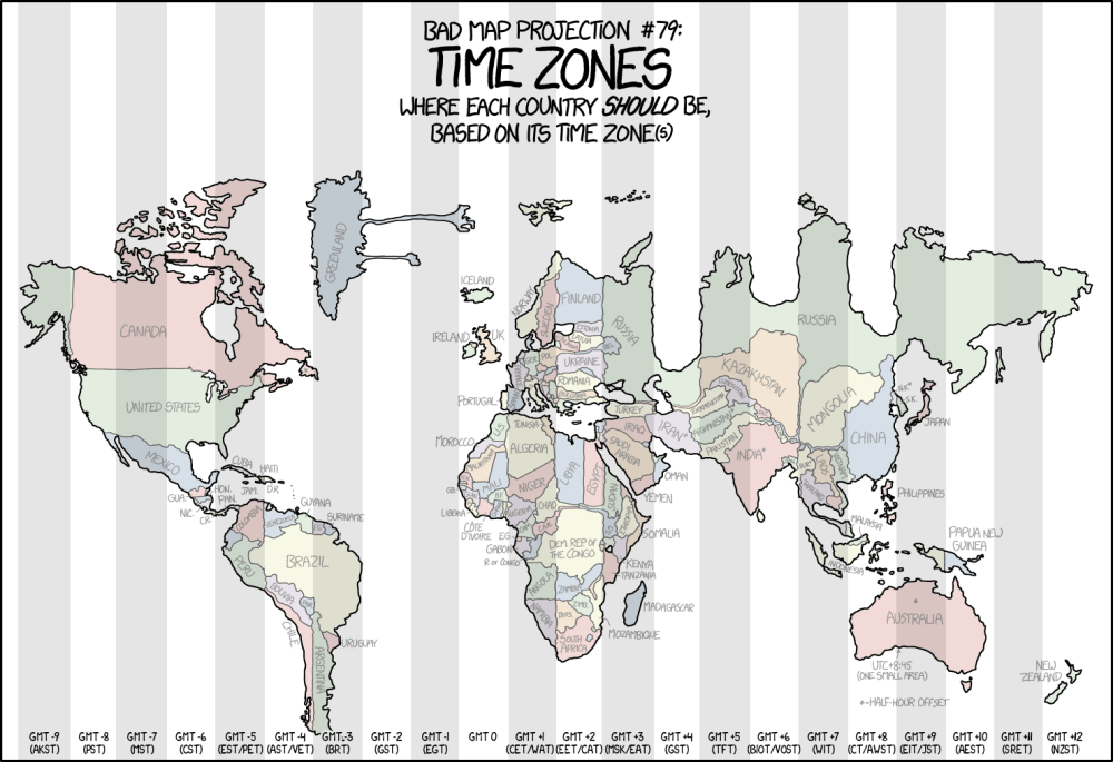 medium resolution of distorted map shows each country forced into its time zone