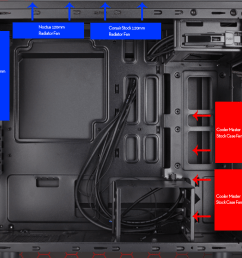 this isn t exactly what my case looks like on the inside but this diagram should give you a sense of where i had which fans after i rotated the front two  [ 1040 x 817 Pixel ]