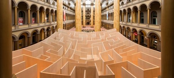 Middle Of Massive Indoor Maze Reveals