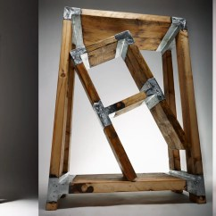 Steel Chair Joints Comfy Lawn Chairs Casting Molten Metal On Wood With A Hungarian Design