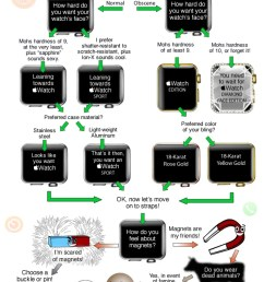 a fun flowchart to help you choose which apple watch to buy [ 640 x 1924 Pixel ]