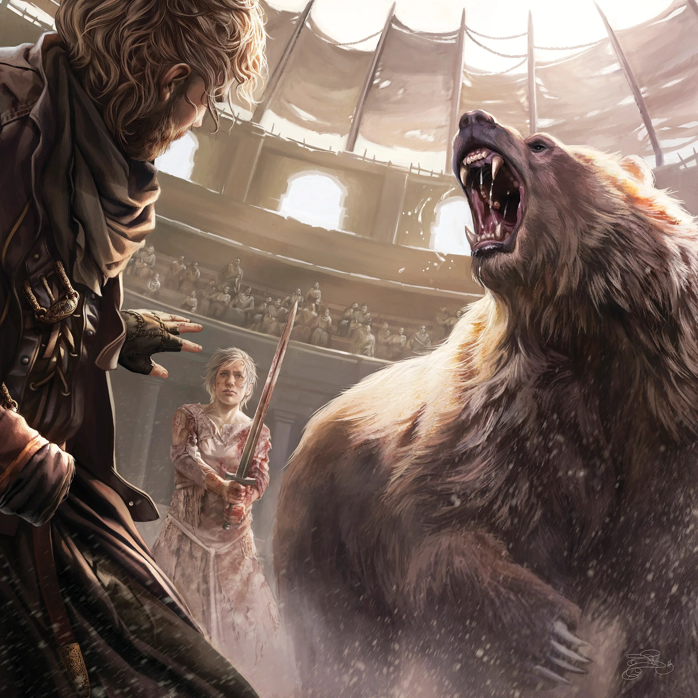 October—In the Bear Pit. ASOIAF 2016 Calendar.