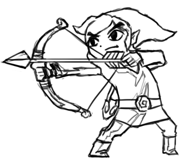 Gallery For > Easy Toon Link Drawing