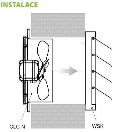 2VV Nástěnný axiální ventilátor CLASSIC CLC-N, 230V