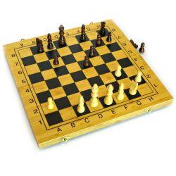 Шахматы, шашки, нарды 35 см (бамбук)