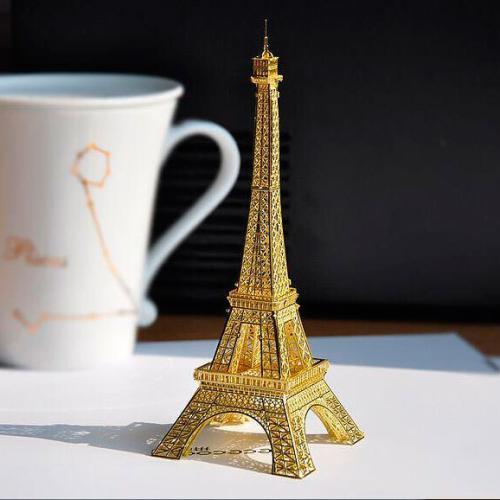 3D пазл металлический Эйфелева башня Золотая